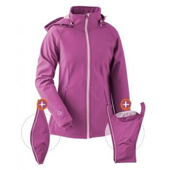 Kurtka Softshell dla dwojga, dla ciąży lub zwykła sportowa kurtka (MAMALILA, pink)