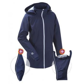 Kurtka Softshell dla dwojga, dla ciąży lub zwykła sportowa kurtka (MAMALILA, navy)