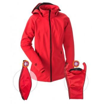 Kurtka Softshell dla dwojga, dla ciąży lub zwykła sportowa kurtka (MAMALILA, red)